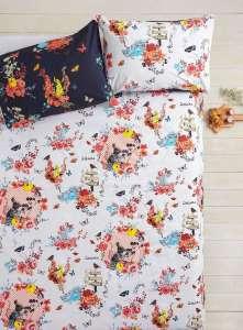 Vintage tapestry rabbit bedset.jg