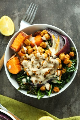 30-minute-CHICKPEA-Sweet-Potato-BUDDHA-Bowls-A-complete-meal-packed-with-protein-fiber-and-healthy-fats-with-a-STELLAR-Tahini-Le