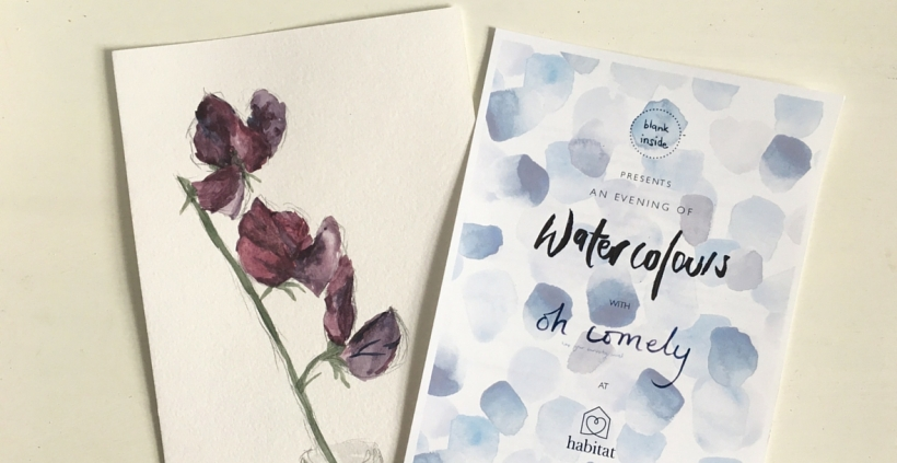 Watercolours with Oh Comely | Bugs & Birds