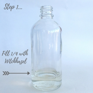 Fill 1%2F4 with Witchhazel