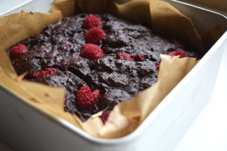 Vegan Raspberry Russian Brownies -baking with tea