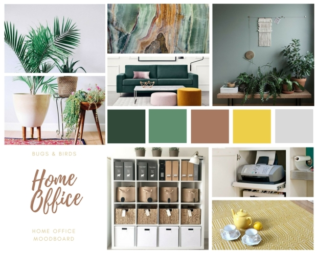 Home office inspiration moodboard