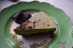 Chocolate orange matcha cheesecake (vegan)